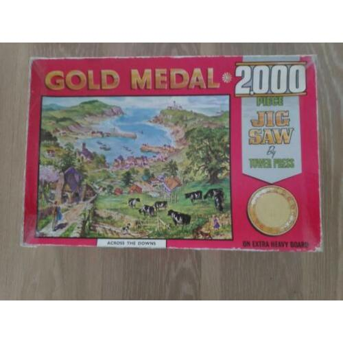 Oude Tower Press legpuzzel Gold Medal Across the Downs