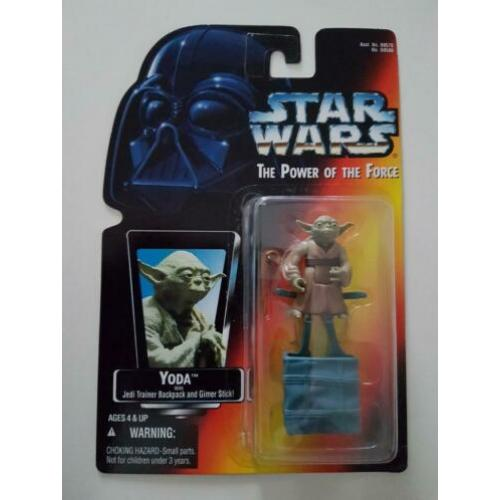 Star Wars POTF Red Photo Yoda with Jedi Trainer Backpack